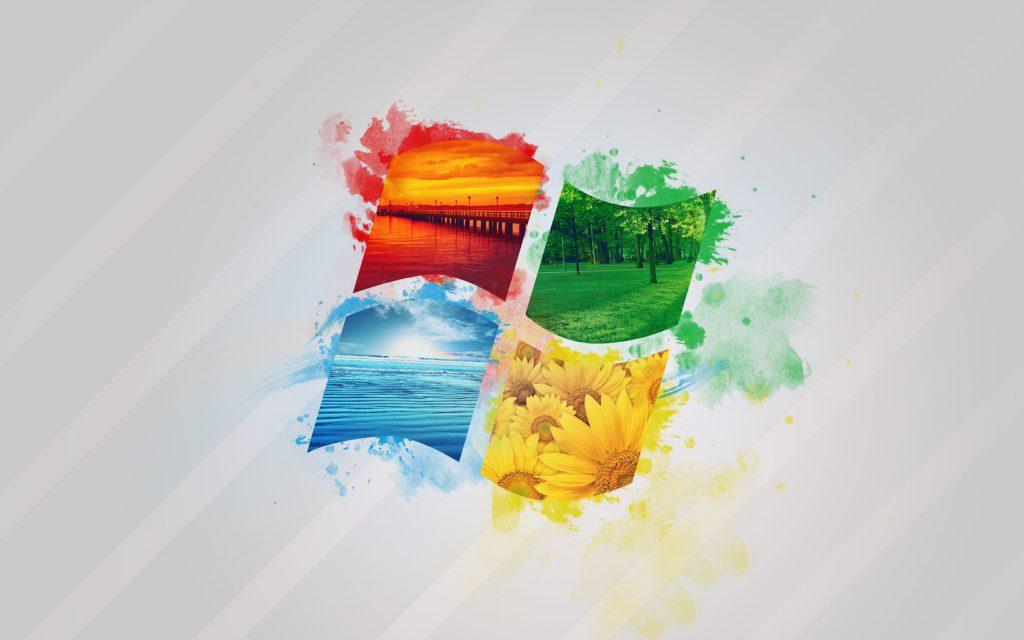 图片[1] - Windows 壁纸,微软logo春夏秋冬四季创意合成 - 小 C 网